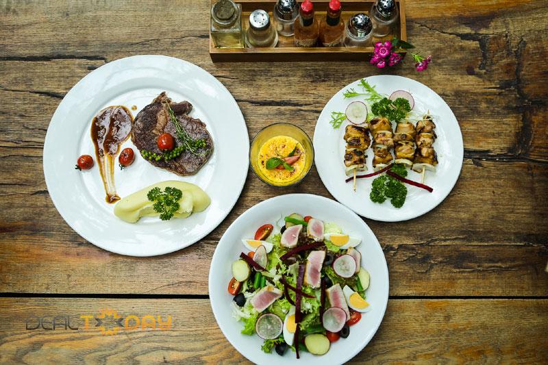 Thưởng thức Set ăn đặc biệt lườn gà nướng kiểu Nhật cùng thăn bò nướng kiểu Úc dành cho 02 người
