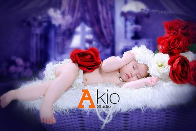 Lưu lại khoảnh khắc ngọt ngào cho bé tại Akio Studio
