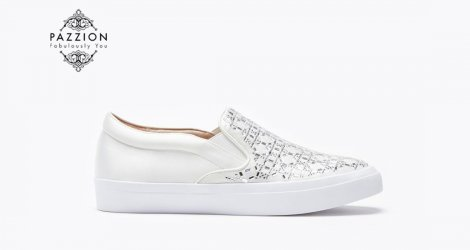 Giầy Slip on Pazzion 1886-2 - WHITE
