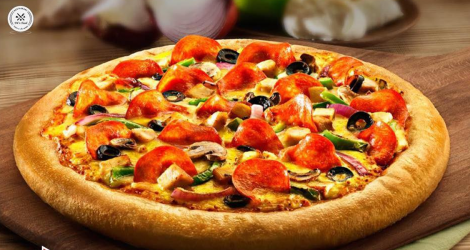 Giá siêu hot 02 Pizza size L tại DC's Food - Free ship 7 km