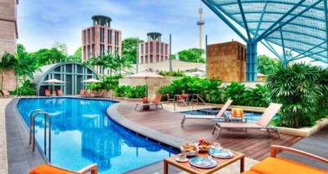 Hotel Michael 5 sao Sentosa, Singapore - Phòng Deluxe Double, Twin 2N1Đ