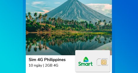 Sim Phillippines 10 ngày 2GB