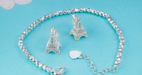 Eiffel Tower - Silver Charm 950